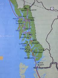 Southeast Alaska Map Leaving Alaska Thru The Inside Passage U2013 Alaska Marine Highway