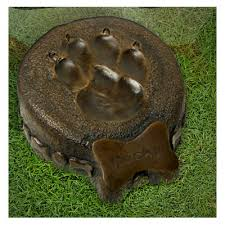 dog urns memorial pet urn bronze dog paw print