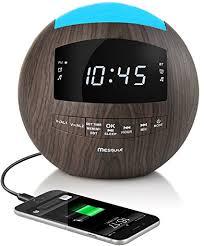 clock radio with night light amazon com mesqool dimmable alarm clock radio bluetooth speaker am