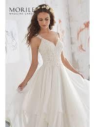 wedding skirt mori 5512 boho bridal gown with ruffle skirt ivory