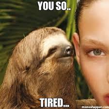 So Tired Meme - you so tired meme whisper sloth 26854 page 3 memeshappen
