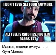 Protein Memes - allisee is calories protein carbs fat macros macros everywhere gym