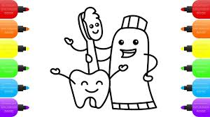 cute tooth family how to draw dentist kit toys for kids coloring