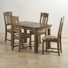 manor house extending dining set in oak table 4 chairs