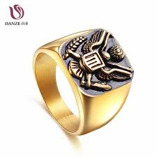 signet ring men online shop danze 2 color us army emblem mens signet rings for