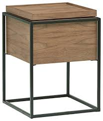 Wood And Metal End Table Amazon Com Rivet Axel Lid Storage Wood And Metal Side Table