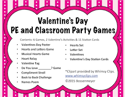 valentine u0027s day pe and classroom party games peaceful playgrounds