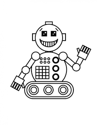 coloring pages kids science free printable robot fun coloring
