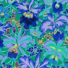 blue orchids free spirit fabrics kaffe fassett 2018 collective blue orchids