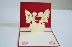 buy angels love greeting card 3d pop up valentines day handmade