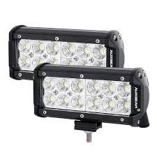 jeep light bar amazon com auxbeam led light bar 7 inch 36w cree driving lights