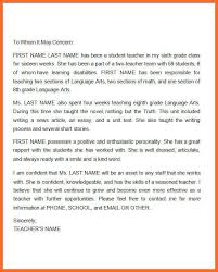 teacher reference letter soap format