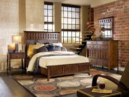 bed u0026 bath rustic wood bed frame with bedding and chest of