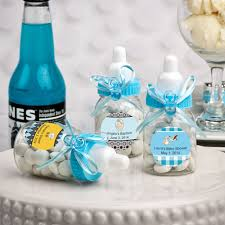 baby shower bottle favors design your own blue baby bottle favors