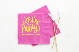 personalized napkins bachelorette party supplies custom printed