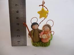 pesebre mini envejecido en porcelana fria porta velita navidad