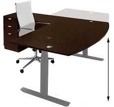 electric lift height adjustable l shaped desks