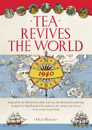 Show World Map by Gill U0027s Tea Revives The World Map 1940 Old House Amazon Co Uk