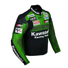genuine leather motorcycle jacket amazon com kawasaki racing team leather jacket xl eu56