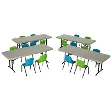 Children S Chair And Table Childrens Chair And Table Combo Glacier Blue And Lime Green