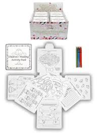 4 wedding childrens activity pack crayons drawing colouring book