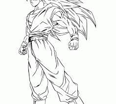 goku super saiyan 3 coloring pages dragon ball coloring pages