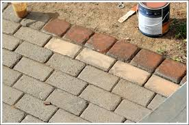 Painting Patio Pavers Painted Patio Pavers Home Design Ideas And Pictures