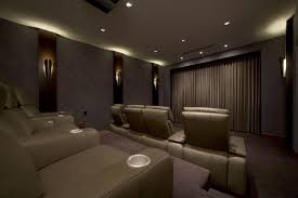 home theater decor ideas small theater at home with cozy seating idea techethe com