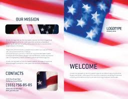flag of the united states of america brochure template design and
