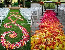where can i buy petals 5000pcs bulk silk petal 40 colors faux fabric wedding flowers