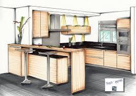 cuisine en perspective perspectives aménagement intérieur images dessin