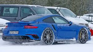 porsche 911 winter porsche 911 gt2 rs spied winter testing