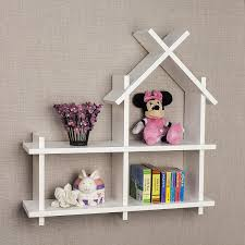 Kids Wall Shelves by Amazon Com Danya B House Design White Wall Mount Shelf Home