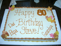 80th birthday cakes for men an extra sheet cake i made for my