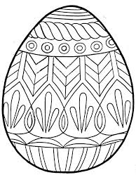 free printable easter egg coloring pages for kids paper art