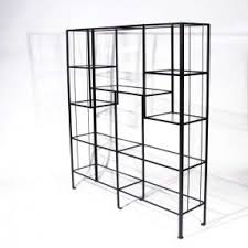 metal and glass etagere foter