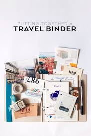 travel photo album putting together a travel binder it s me kp binder scrapbook