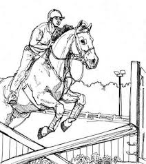 jumping horse animal coloring pages kids color horses