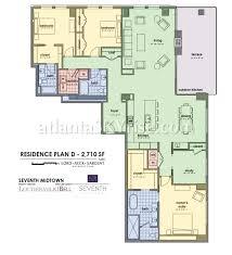 seventh midtown atlanta opens exclusive first look inside seventh midtown unit 802 floor plan