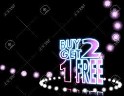 cool black shiny disco 3d graphic with neon buy two get one