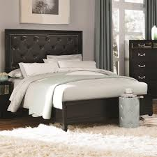 coaster furniture 203121q devine queen bed in black with button