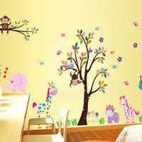 How To Decorate Nursery Classroom Buy Large Wall Stickers Children S Room Animal Park Child Room