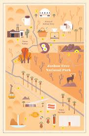 Joshua Tree Map Desert Getaway Map Alexander Vidal Illustration