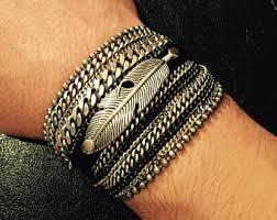 chain bracelet men images Mens stack bracelets etsy jpg