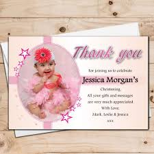 10 personalised christening baptism photo thank you cards n30