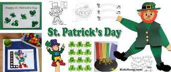 st patrick u0027s day preschool crafts activities and games kidssoup