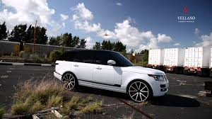 range rover autobiography rims white range rover on vellano wheels vm27 monoblock youtube