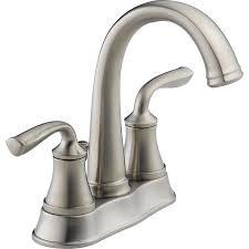 shop delta lorain stainless 2 handle 4 in centerset watersense