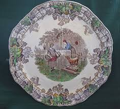 copeland spode byron series scenic plate from problem1 on ruby