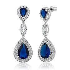 blue chandelier earrings women s blue chandelier earrings